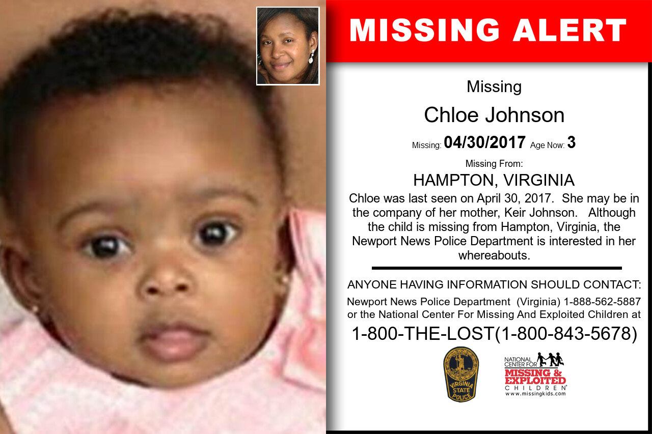 CHLOE_JOHNSON missing in Virginia