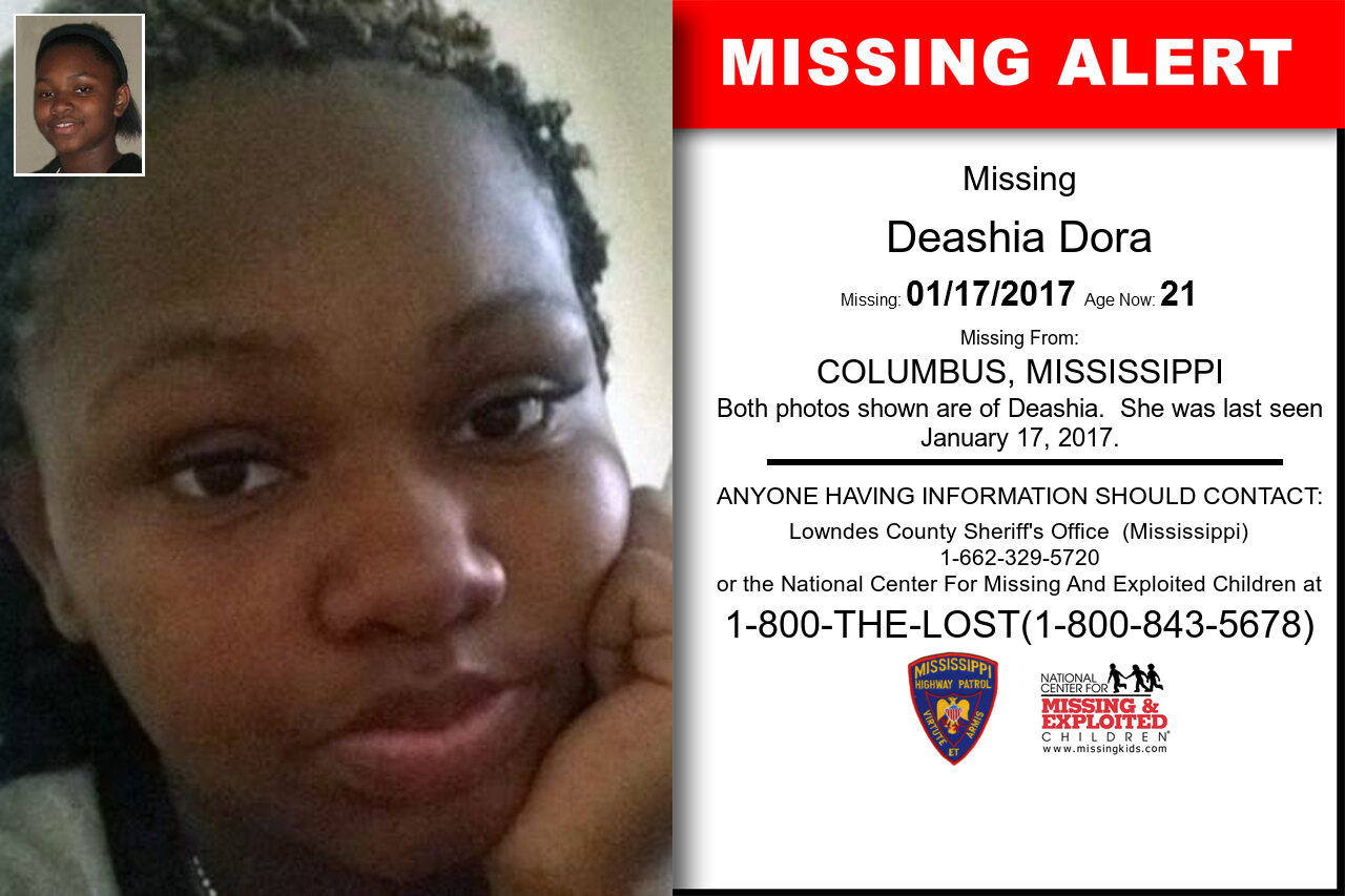 DEASHIA_DORA missing in Mississippi
