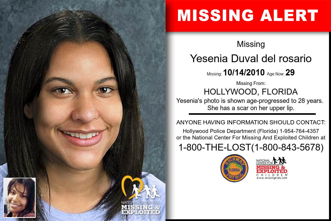 Yesenia_Duval_del_rosario missing in Florida