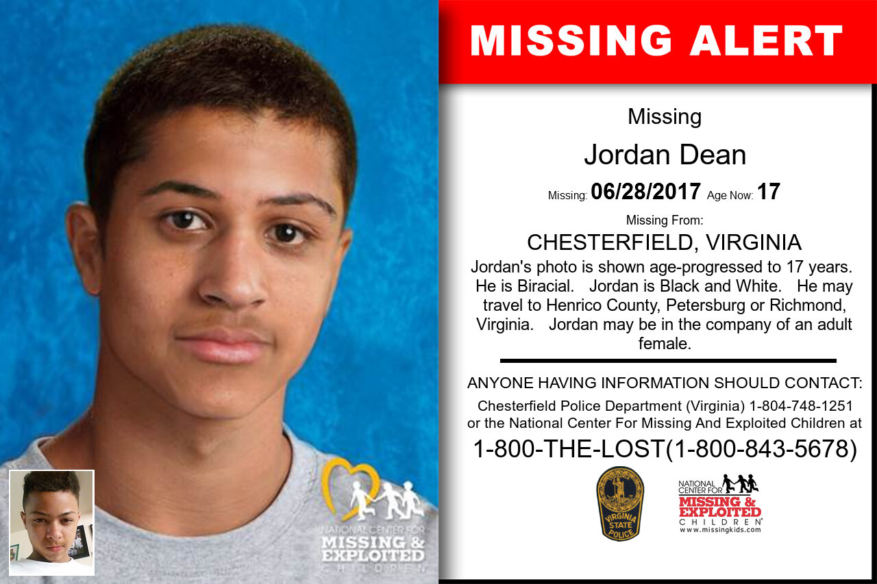 JORDAN_DEAN missing in Virginia