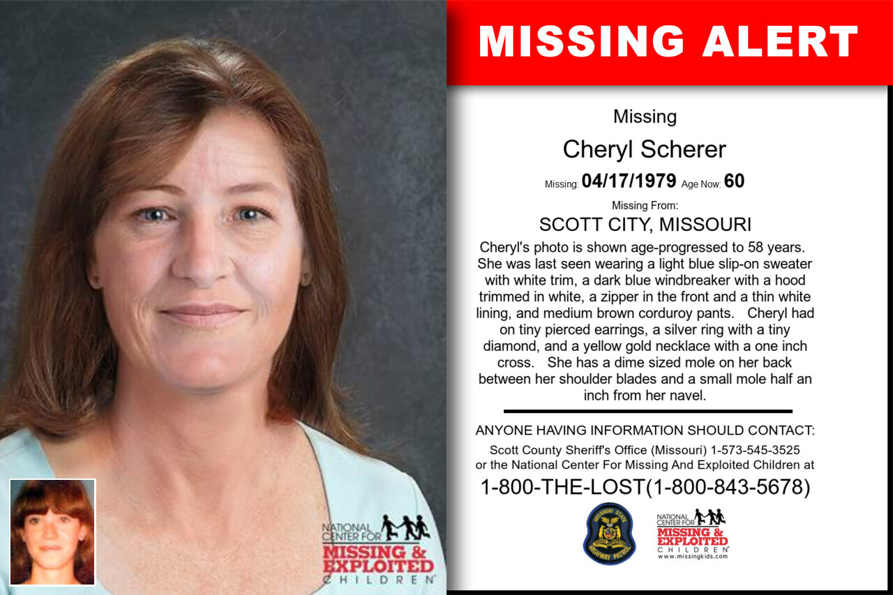 CHERYL_SCHERER missing in Missouri
