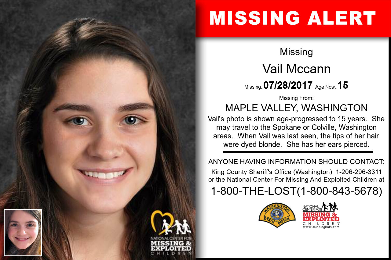 Vail_Mccann missing in Washington
