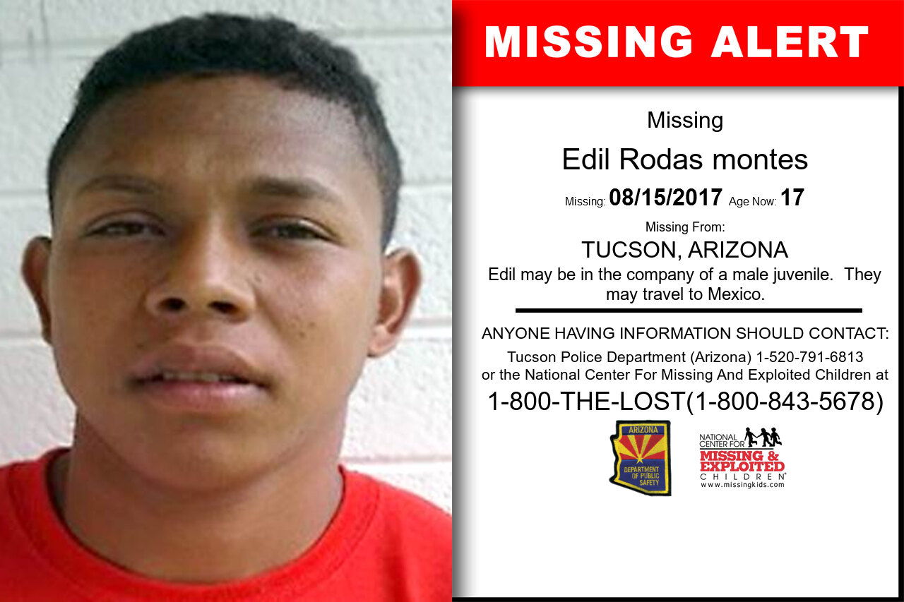 EDIL_RODAS_MONTES missing in Arizona