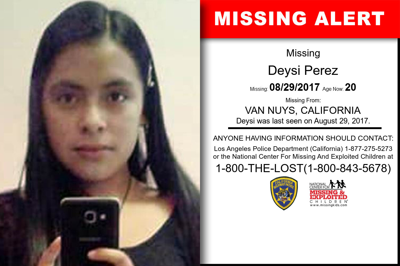 DEYSI_PEREZ missing in California