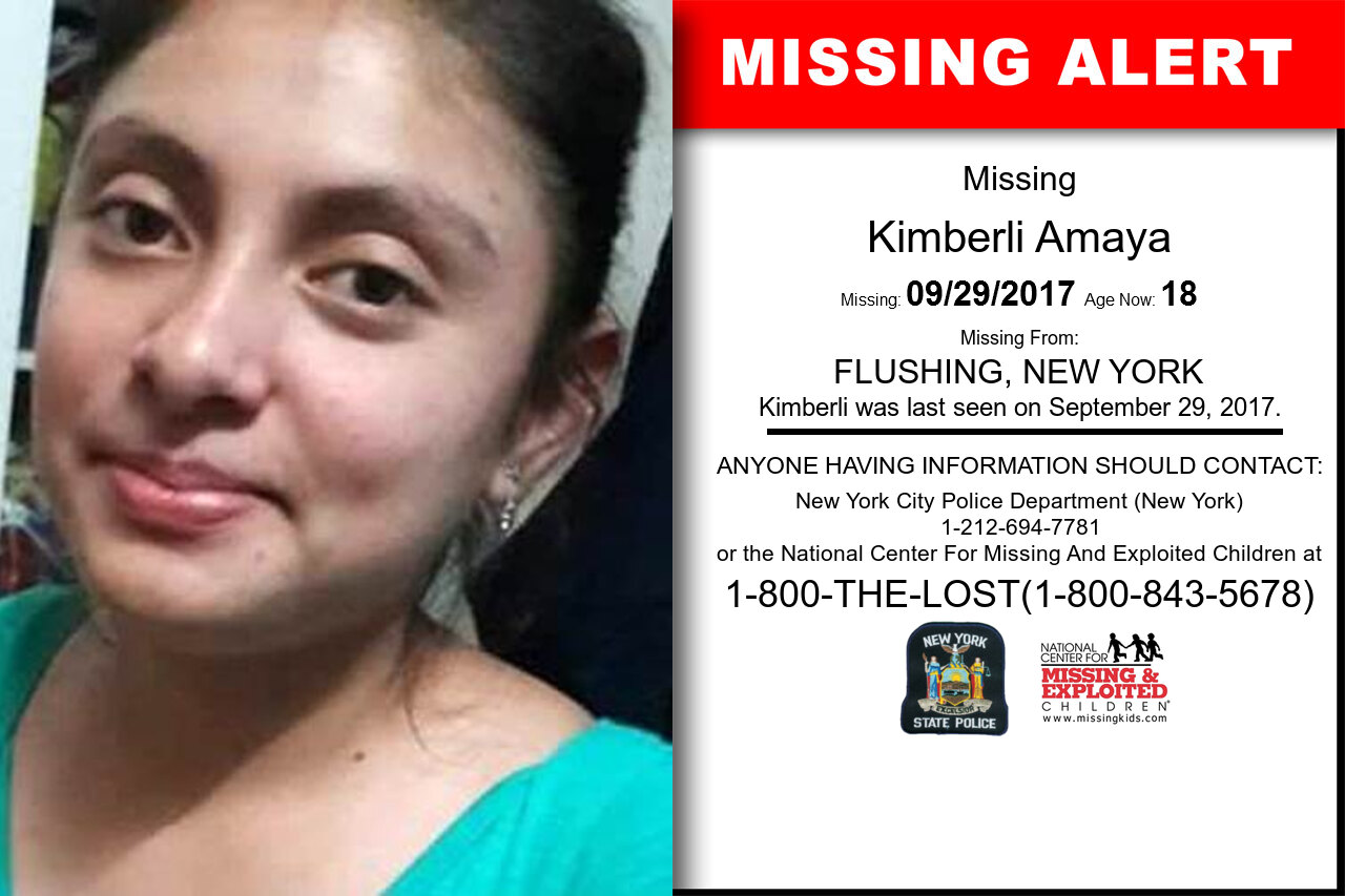 KIMBERLI_AMAYA missing in New_York