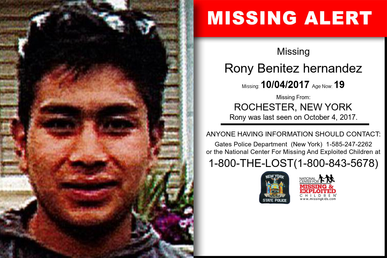 RONY_BENITEZ_HERNANDEZ missing in New_York