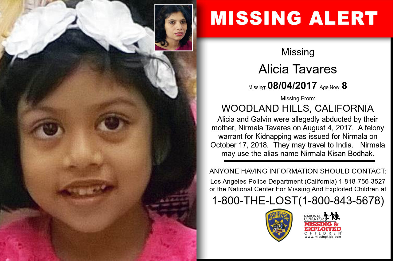 ALICIA_TAVARES missing in California