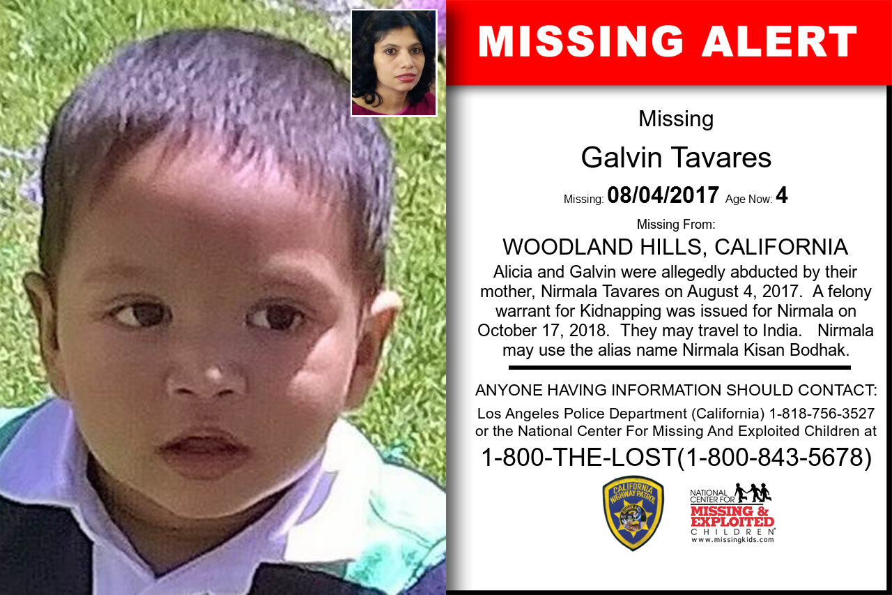 Galvin_Tavares missing in California