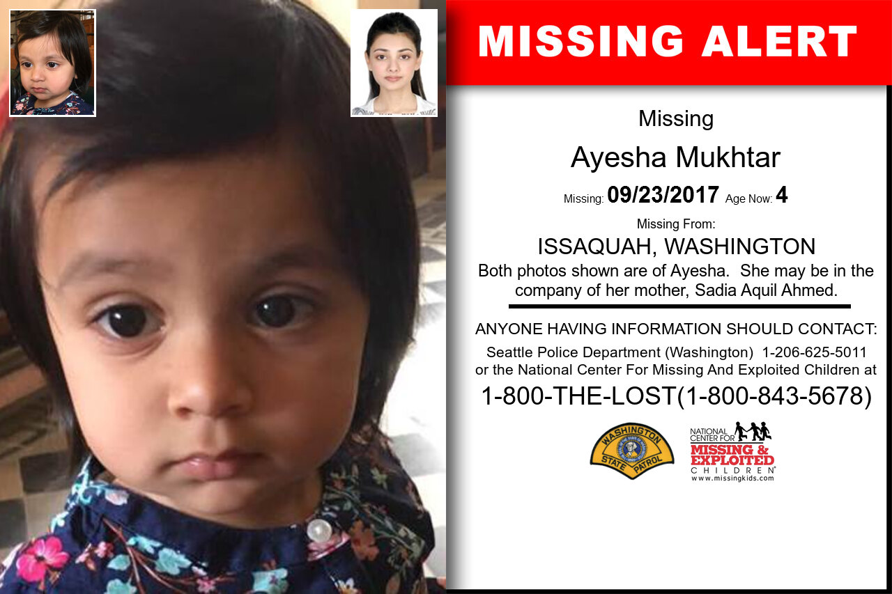 AYESHA_MUKHTAR missing in Washington
