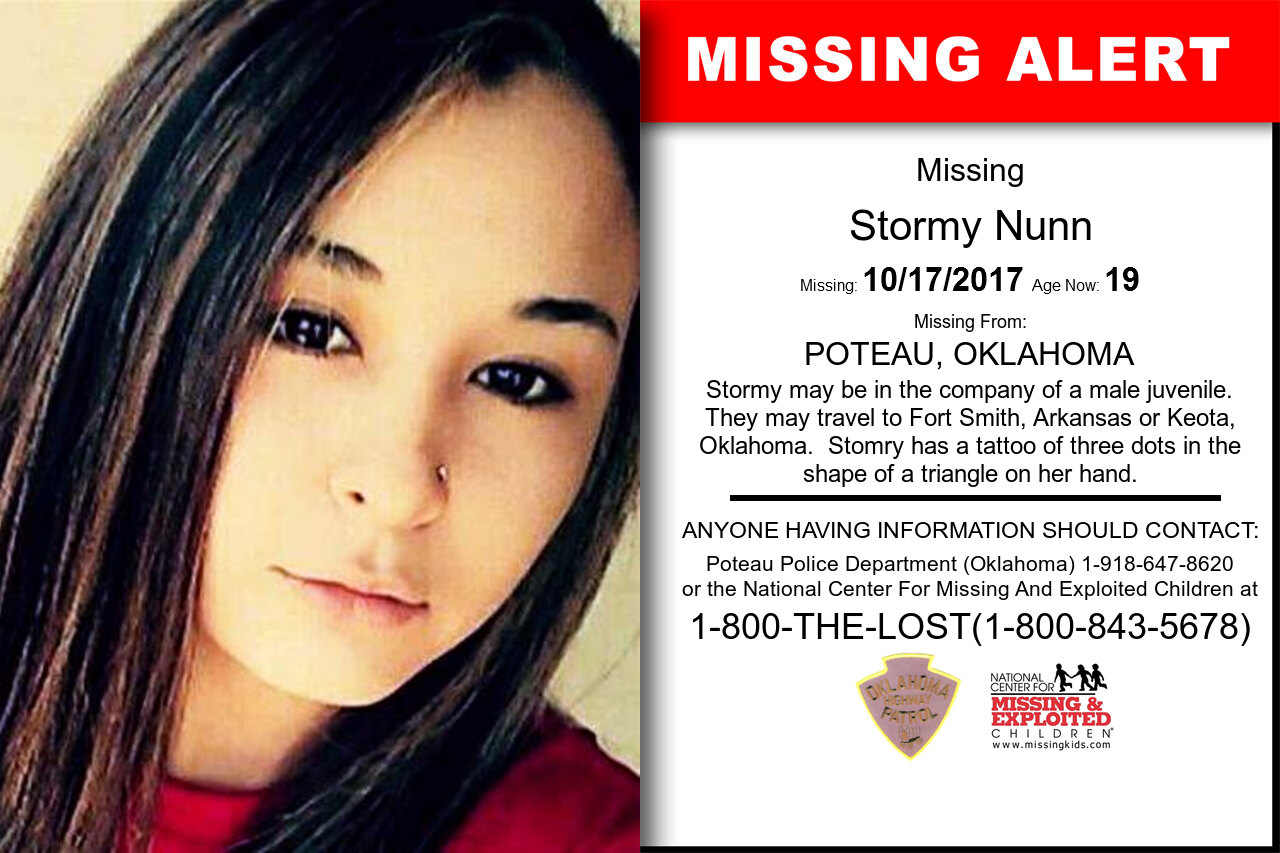 STORMY_NUNN missing in Oklahoma