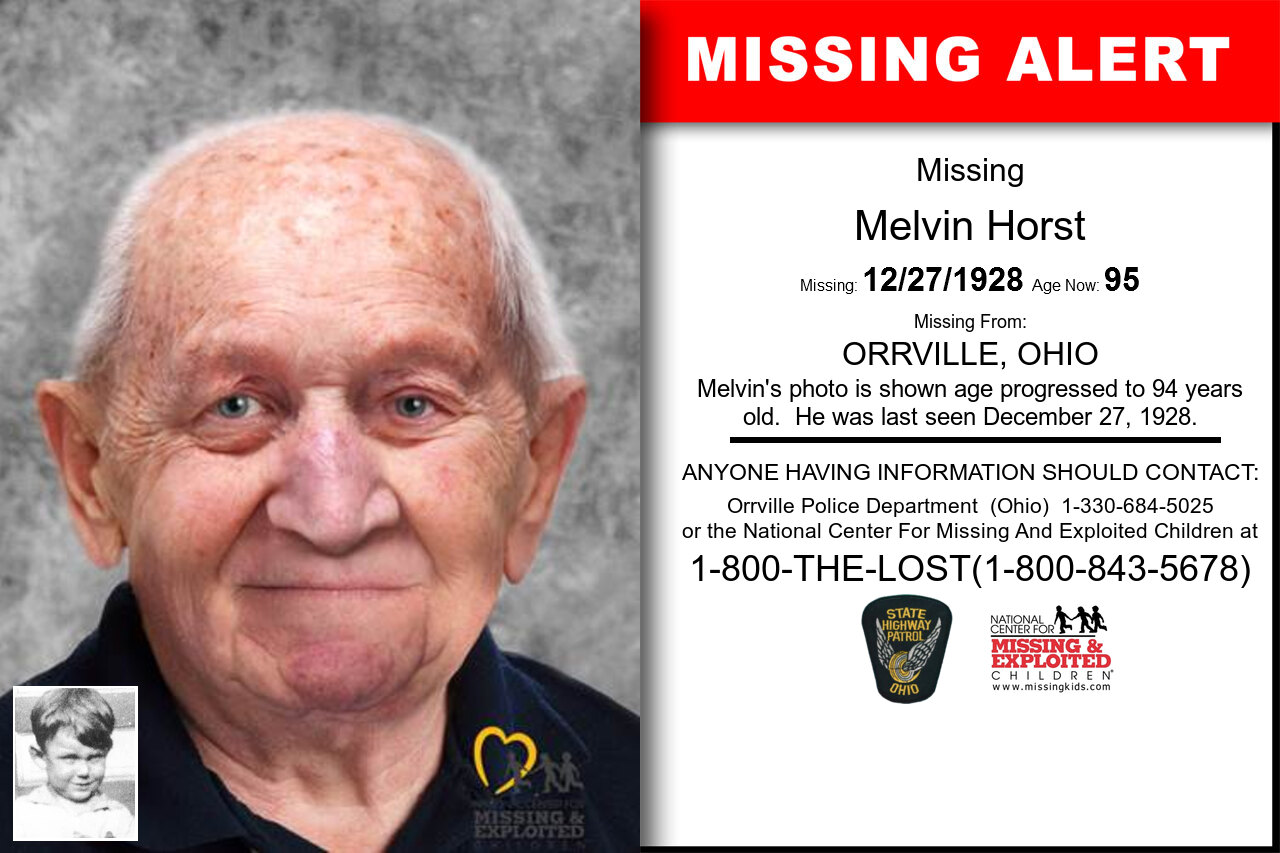 Melvin_Horst missing in Ohio