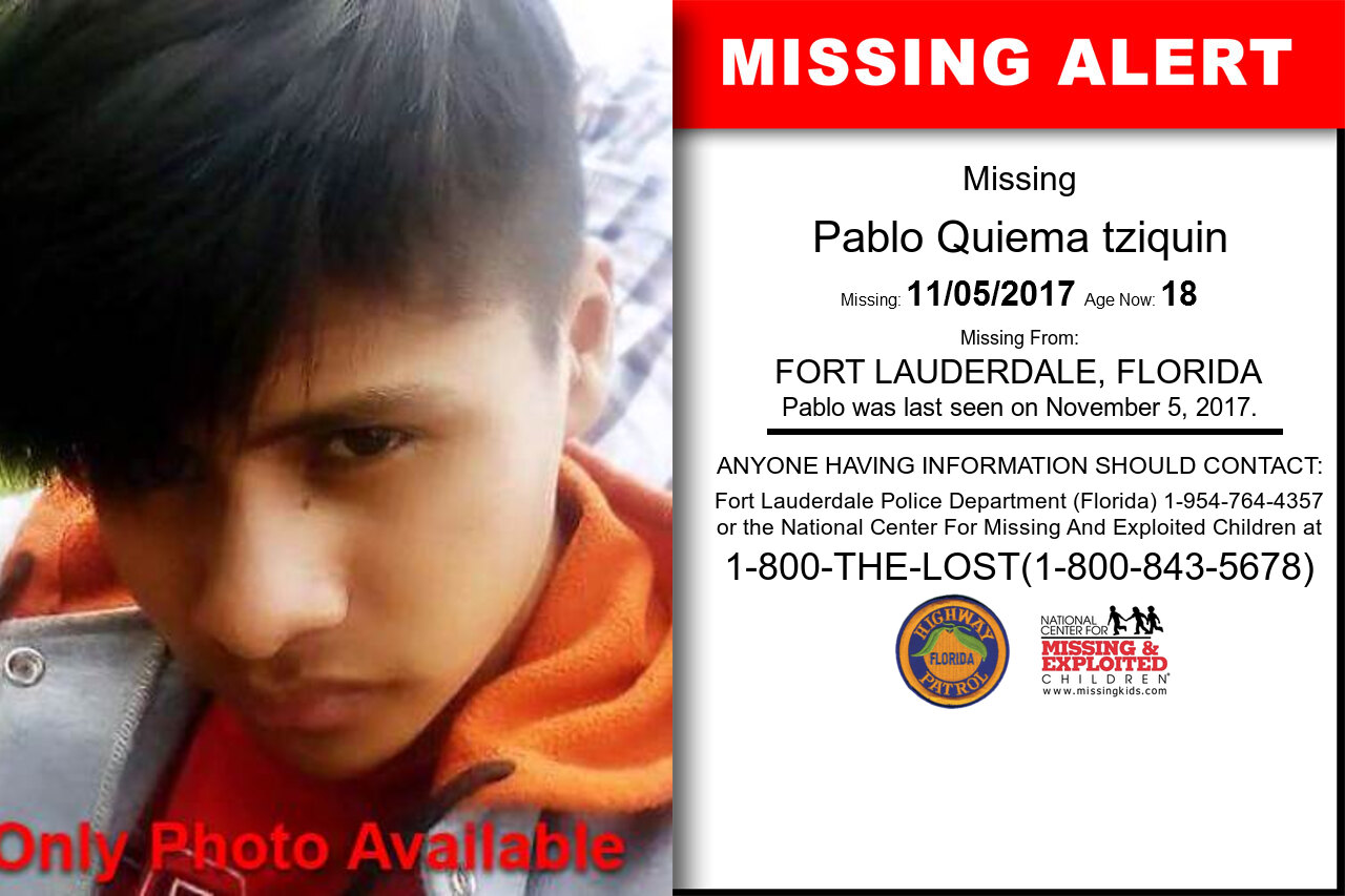 Pablo_Quiema_tziquin missing in Florida