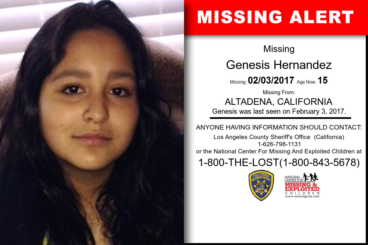 GENESIS_HERNANDEZ missing in California