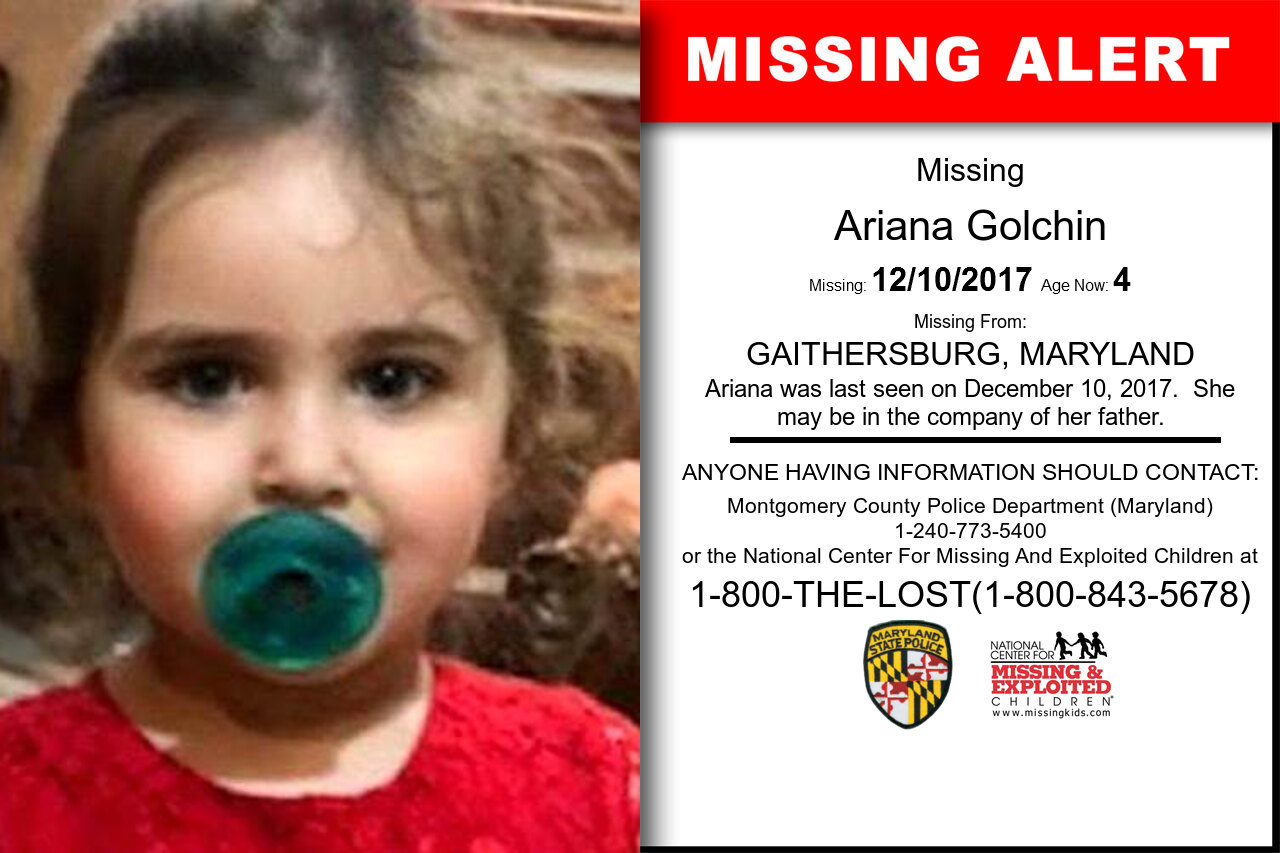 RADIN_GOLCHIN missing in Maryland