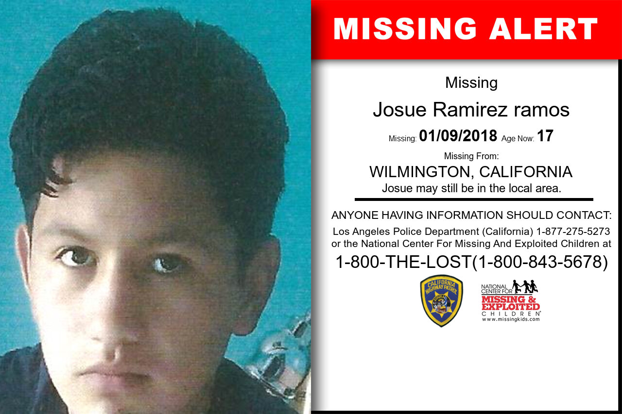 Josue_Ramirez_ramos missing in California
