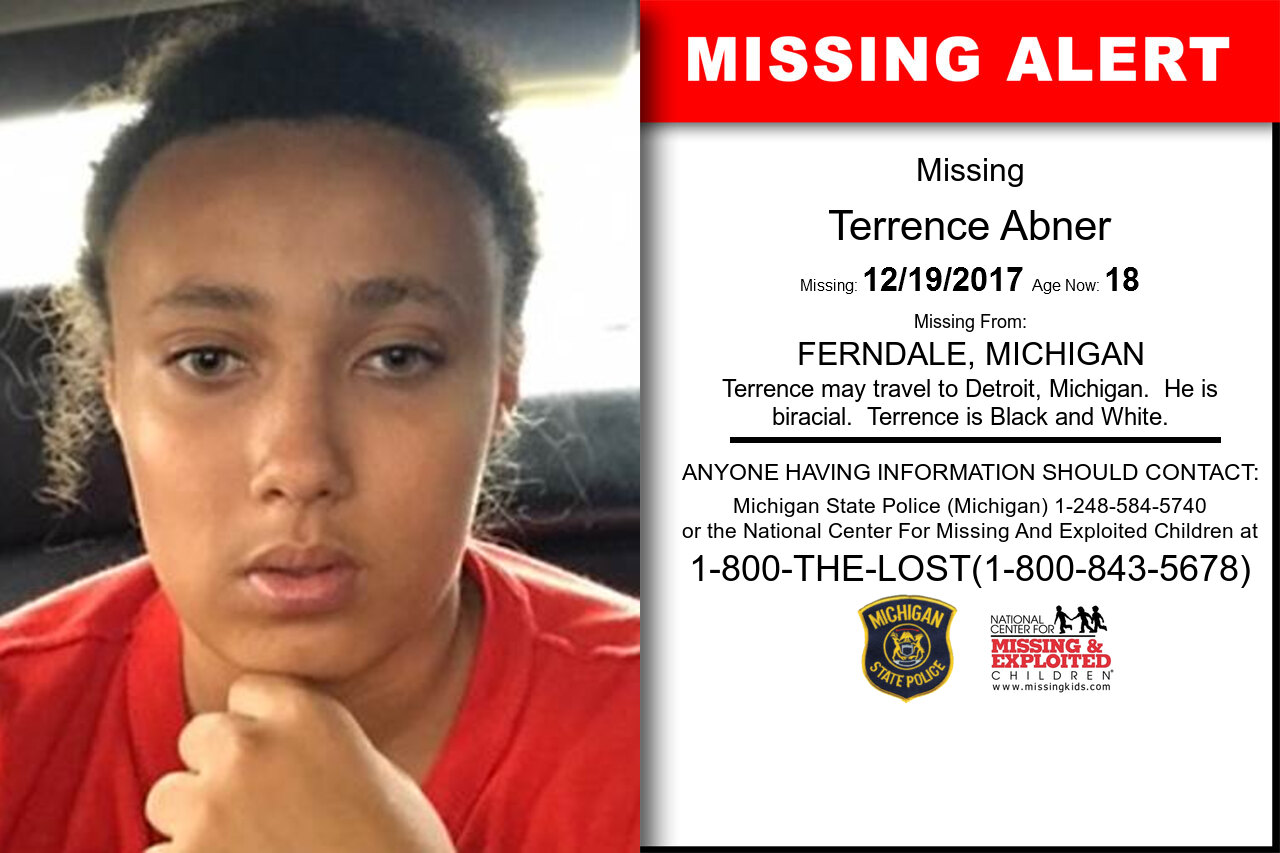 TERRENCE_ABNER missing in Michigan