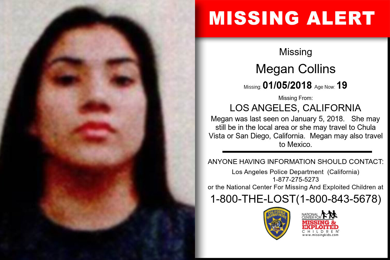 MEGAN_COLLINS missing in California