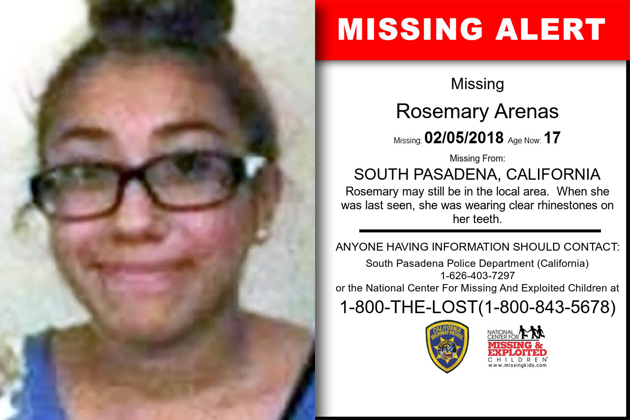 ROSEMARY_ARENAS missing in California
