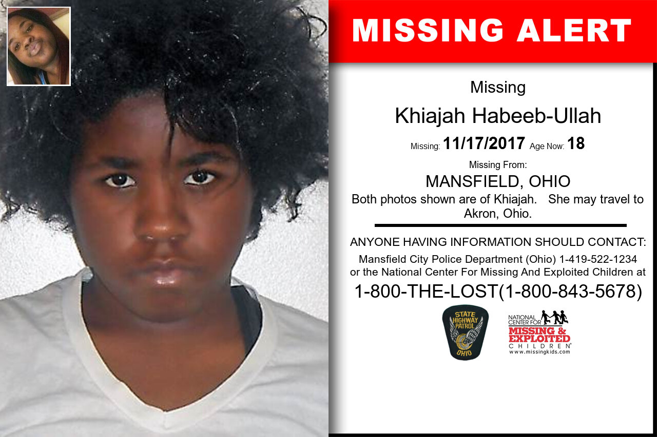 KHIAJAH_HABEEB-ULLAH missing in Ohio