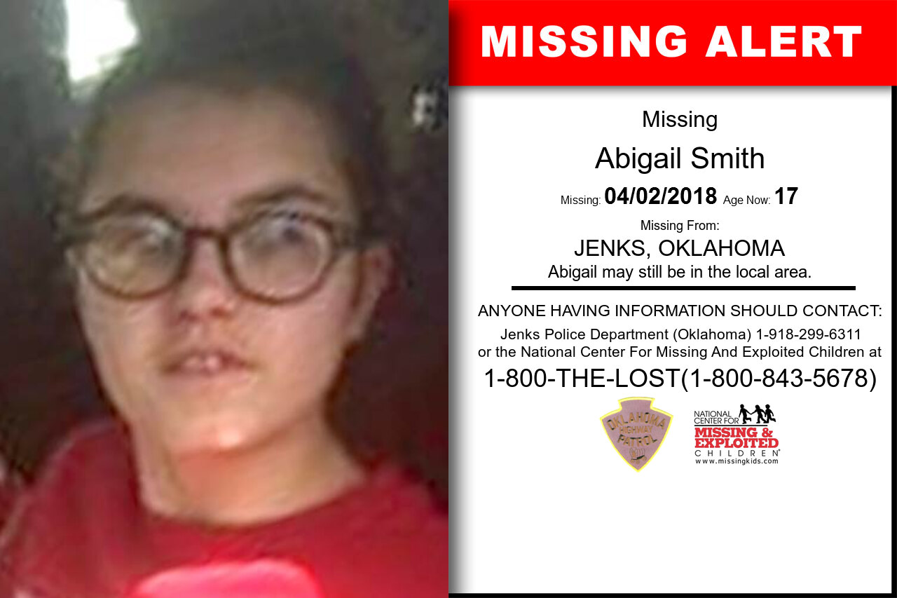 ABIGAIL_SMITH missing in Oklahoma