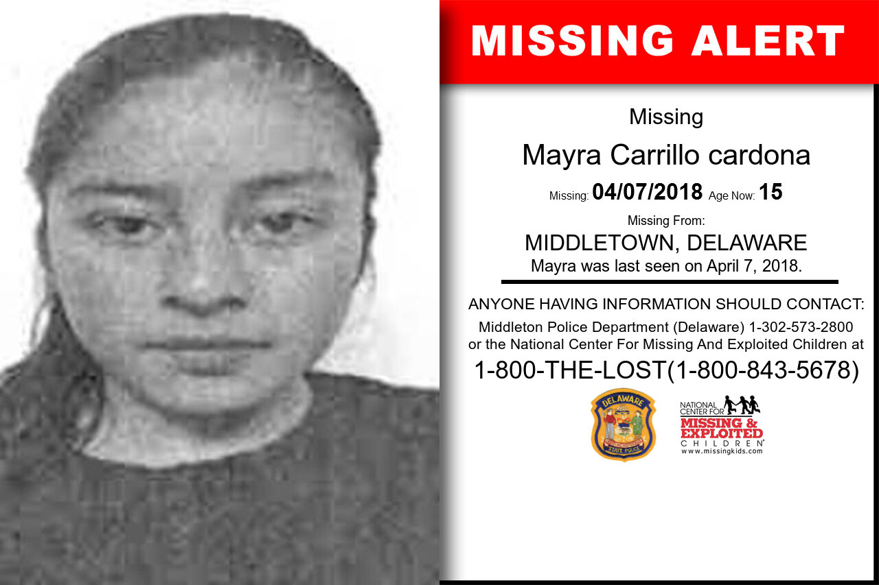 MAYRA_CARRILLO_CARDONA missing in Delaware