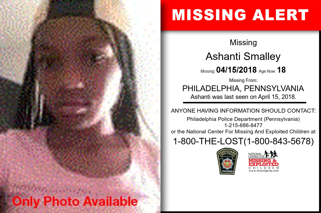 GABRIELLE_SMALLEY missing in Pennsylvania