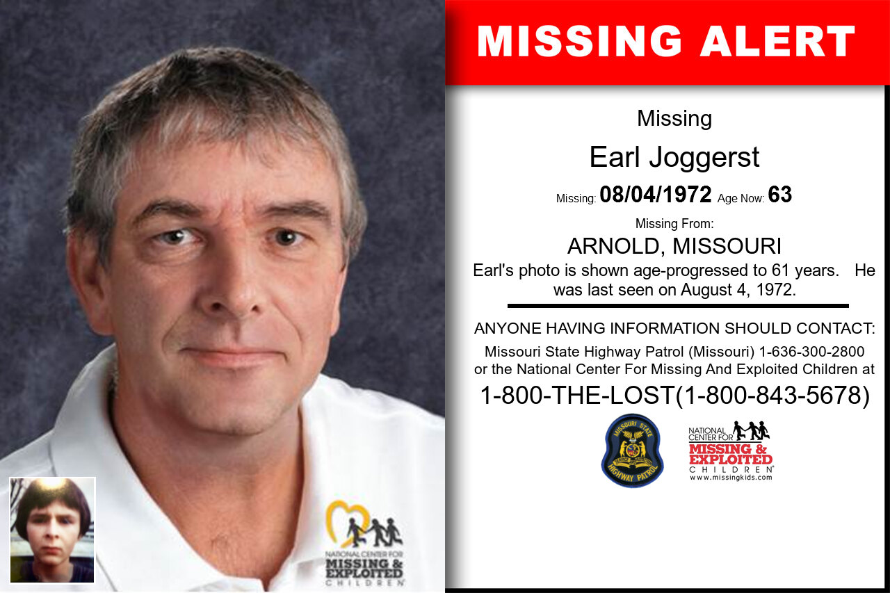 EARL_JOGGERST missing in Missouri