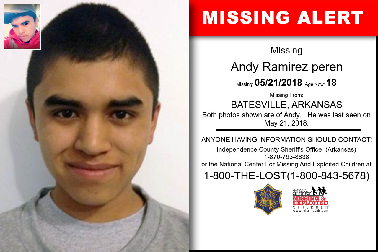 ANDY_RAMIREZ_PEREN missing in Arkansas
