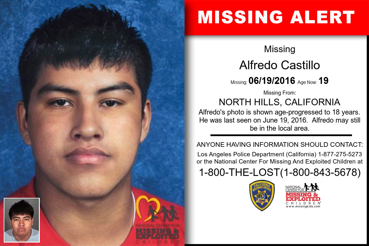 ALFREDO_CASTILLO missing in California