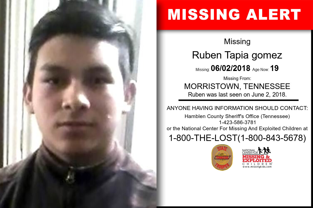 Ruben_Tapia_gomez missing in Tennessee