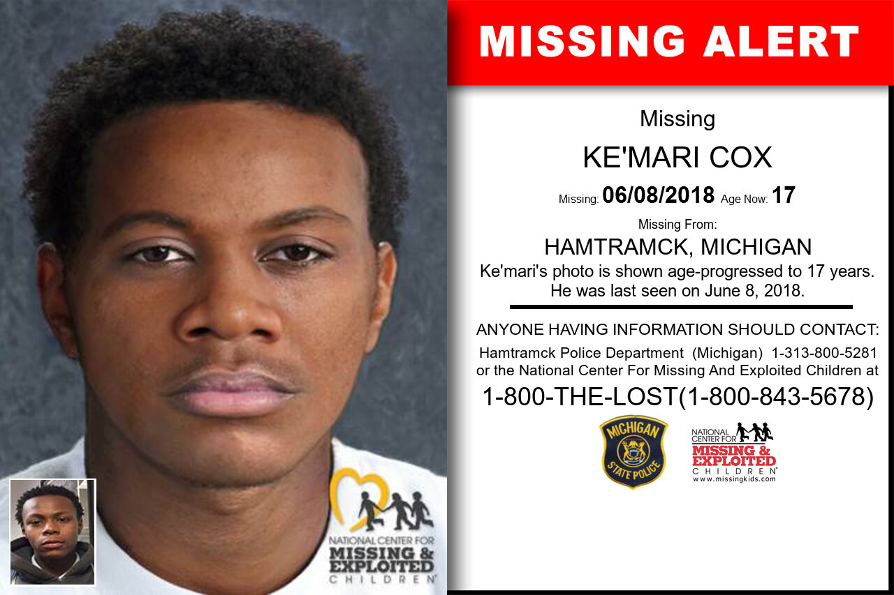 KE'MARI_COX missing in Michigan