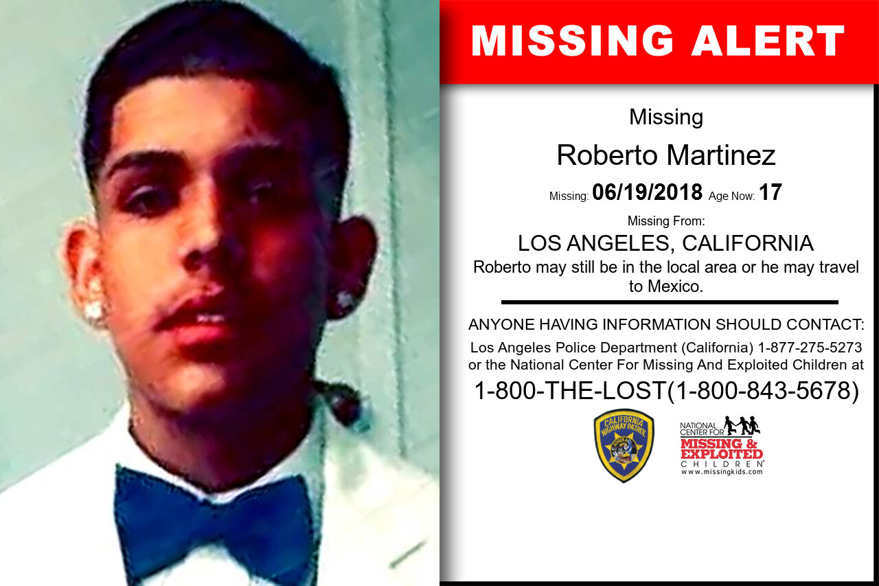 ROBERTO_MARTINEZ missing in California