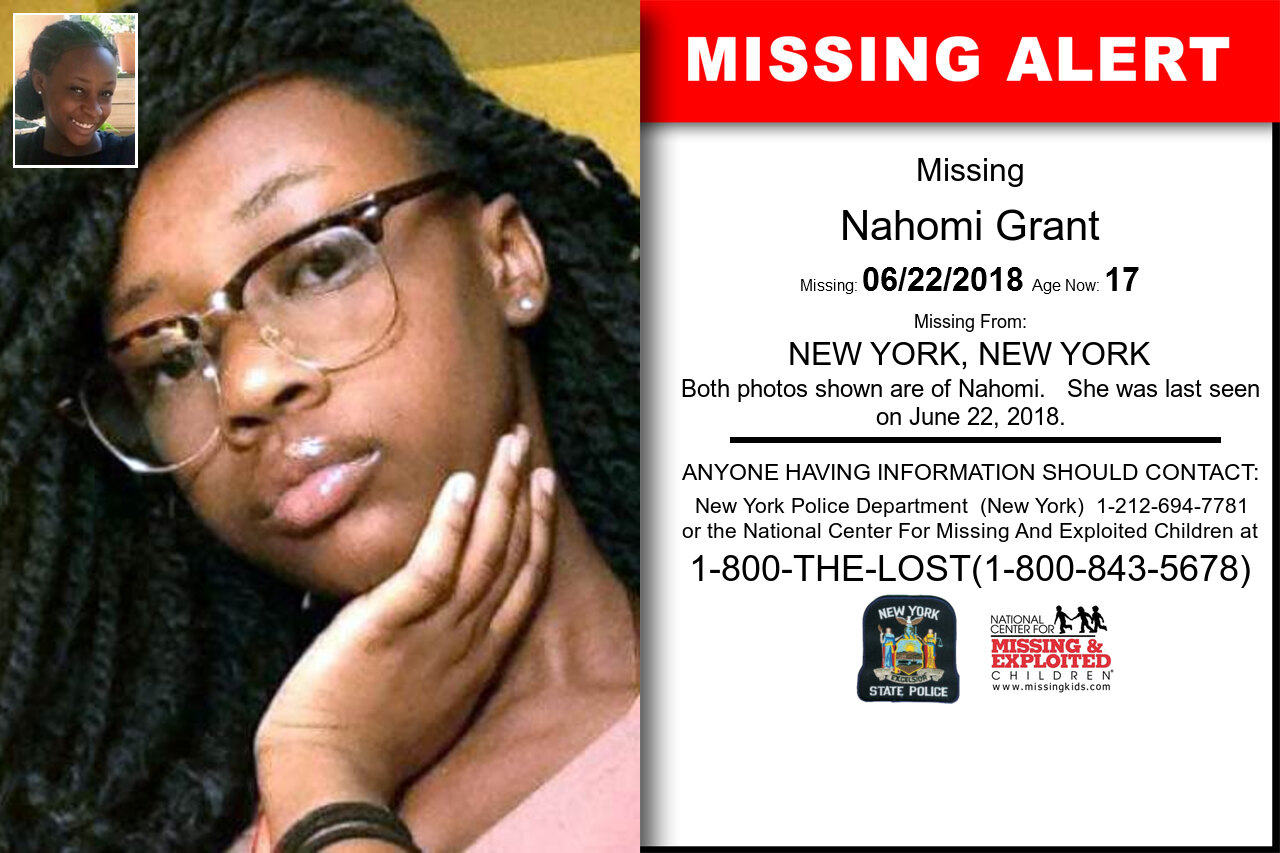 Nahomi_Grant missing in New_York