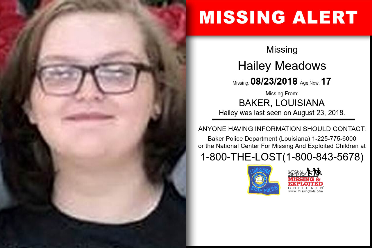 HAILEY_MEADOWS missing in Louisiana