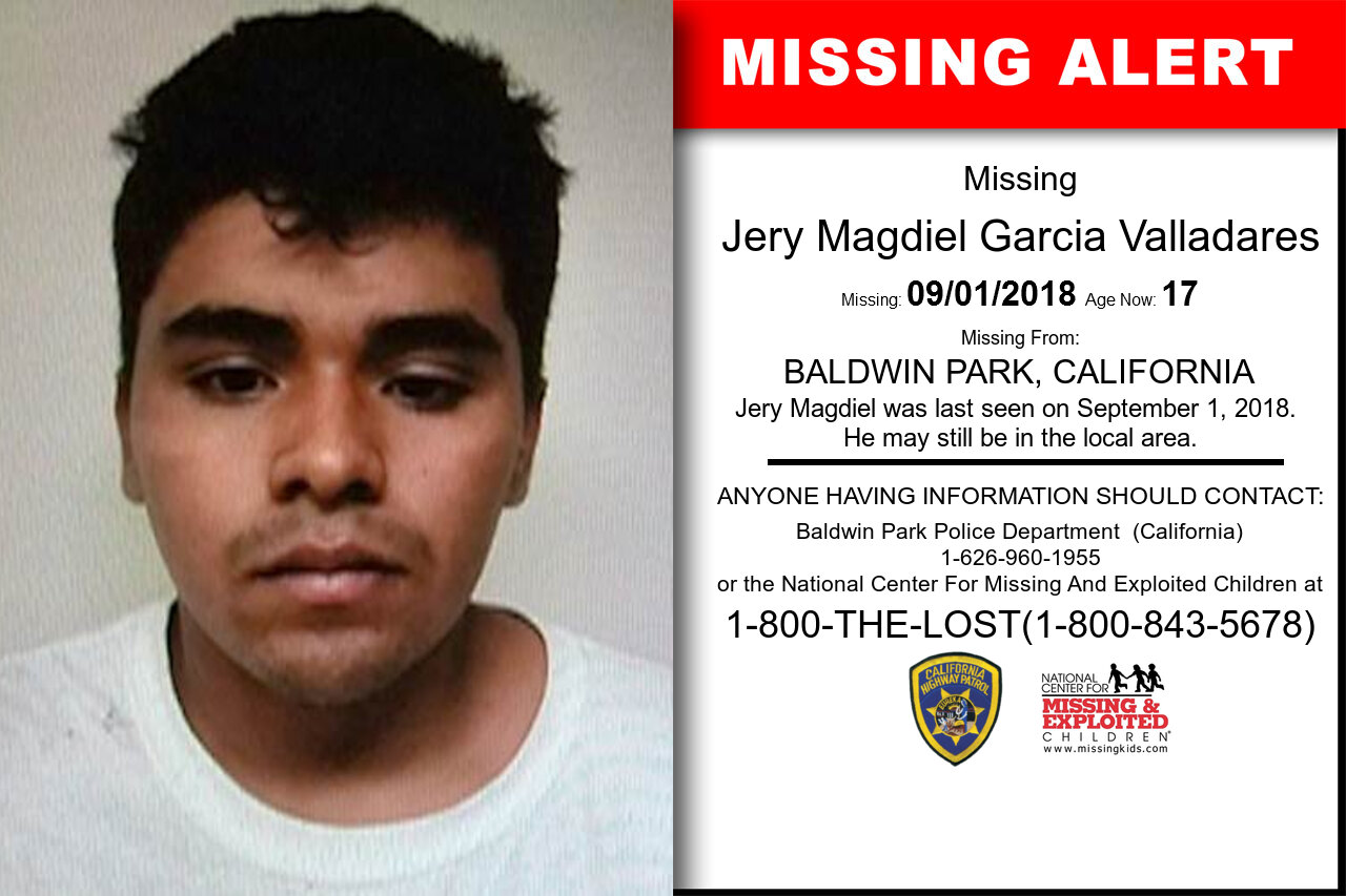 JERY_MAGDIEL_GARCIAVALLADARES missing in California