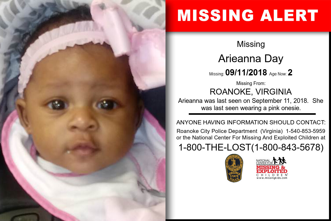 Arieanna_Day missing in Virginia