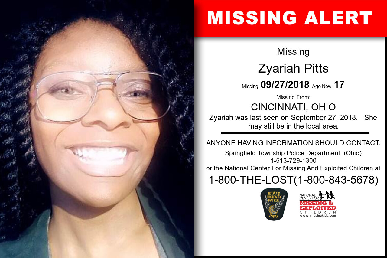 ZYARIAH_PITTS missing in Ohio