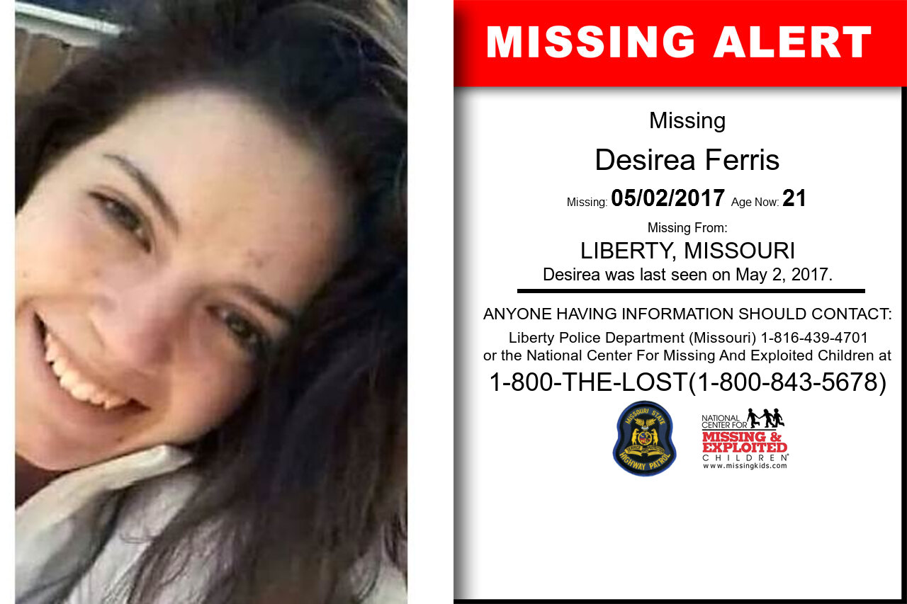 DESIREA_FERRIS missing in Missouri