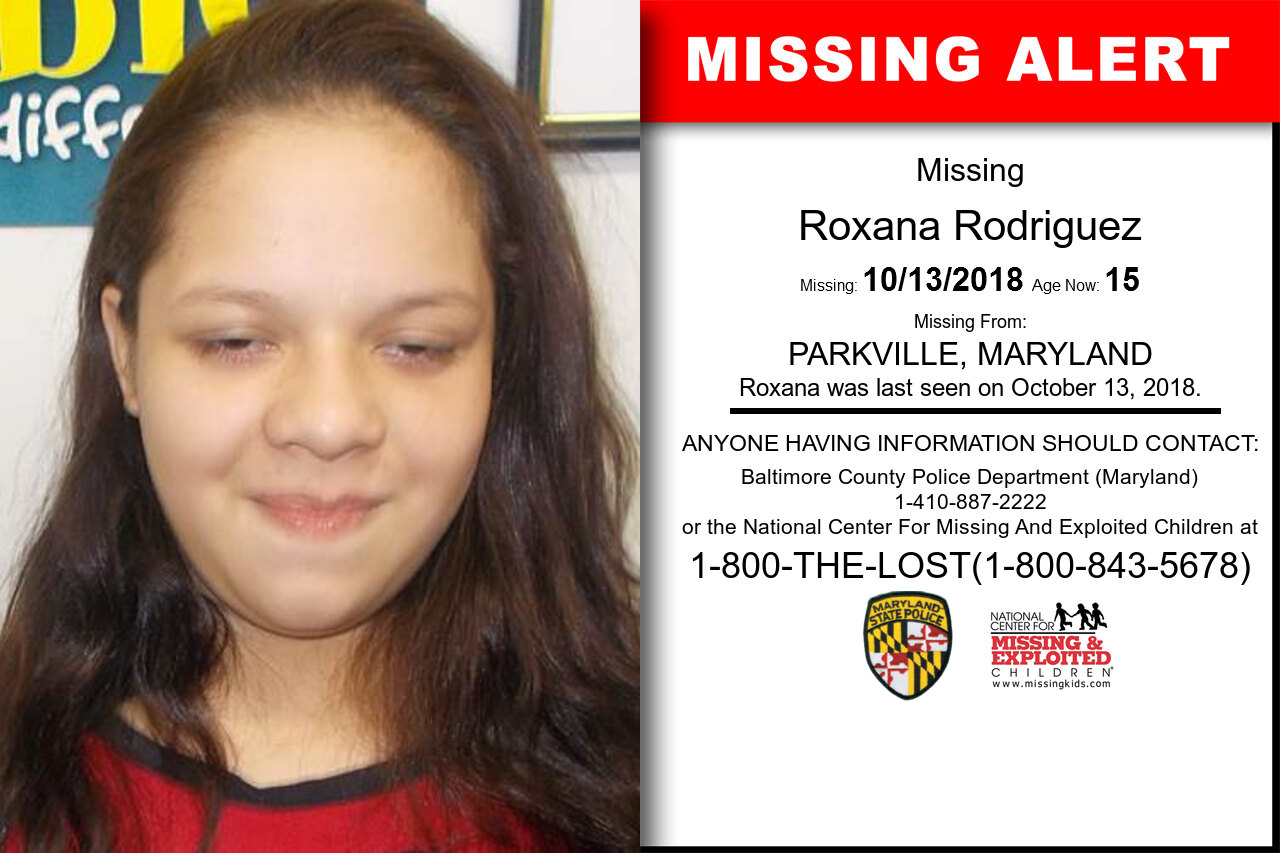 Roxana_Rodriguez missing in Maryland