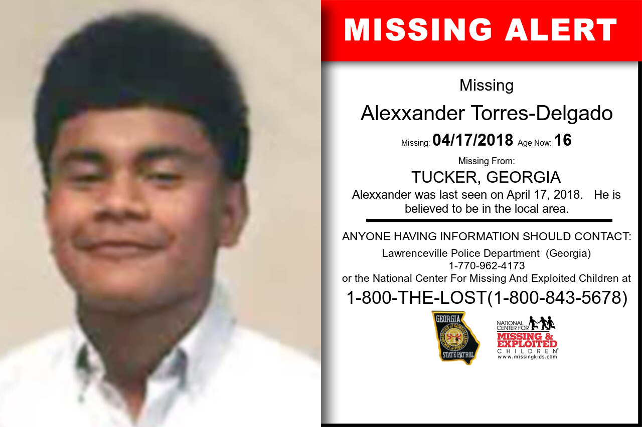 ALEXXANDER_TORRES-DELGADO missing in Georgia