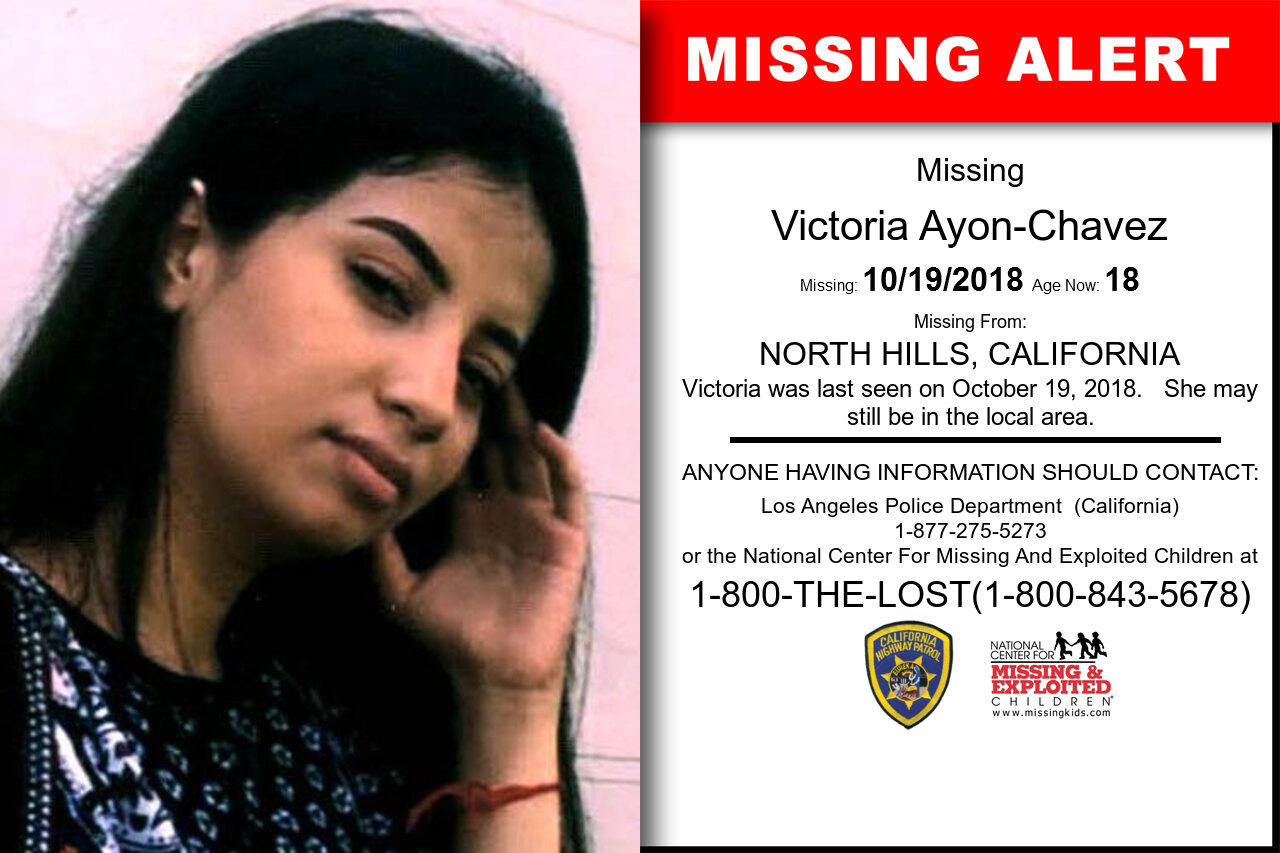 VICTORIA_AYON-CHAVEZ missing in California