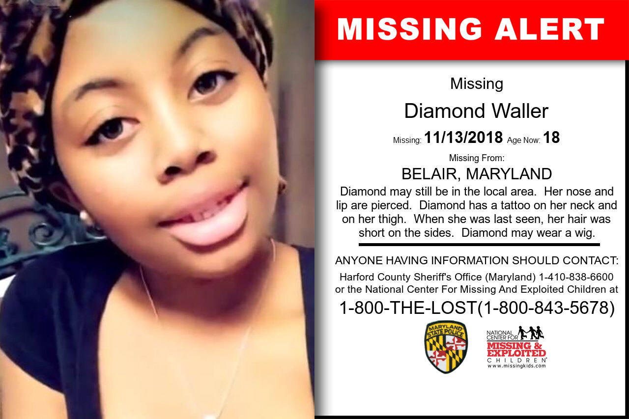 Diamond_Waller missing in Maryland