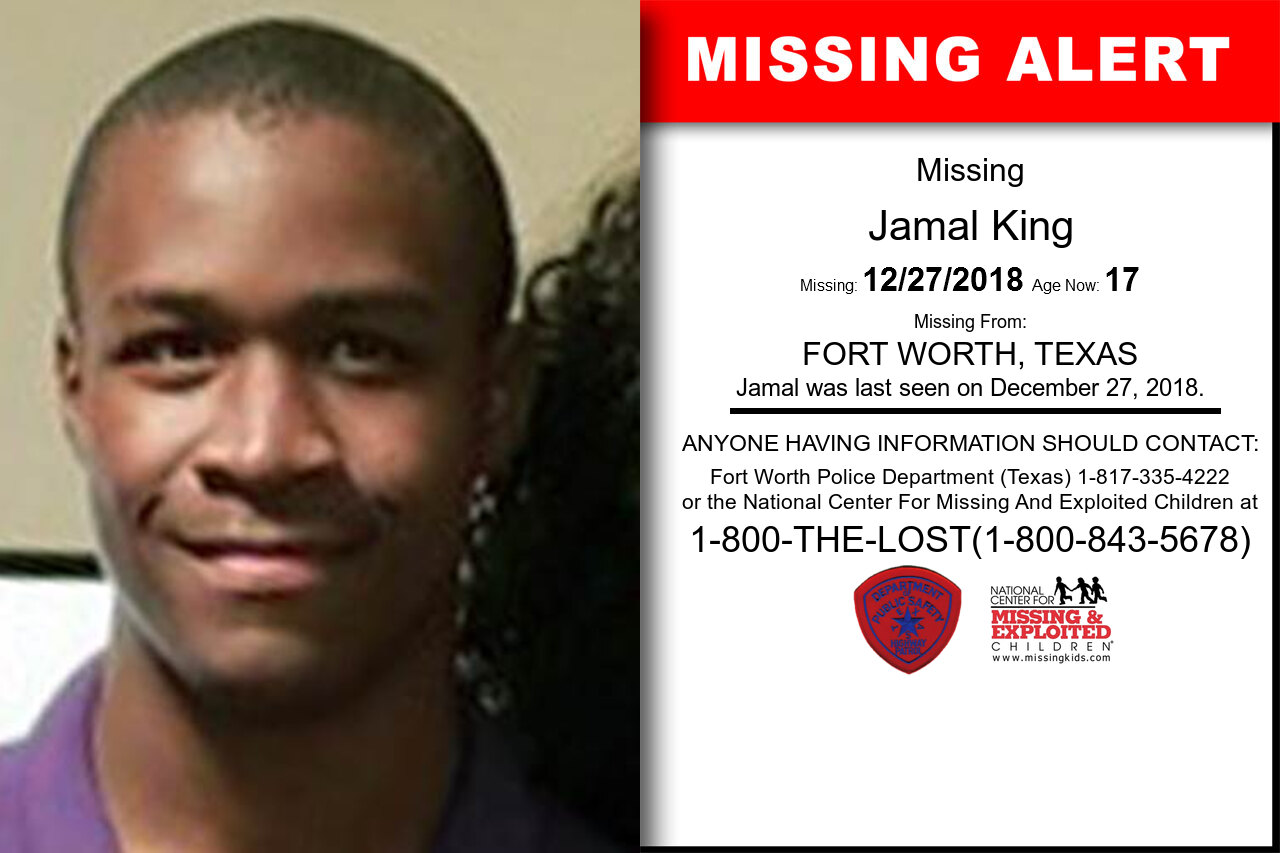Jamal_King missing in Texas