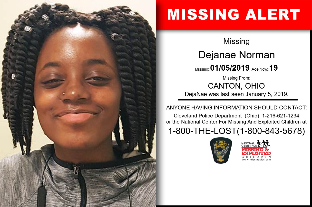 DEJANAE_NORMAN missing in Ohio