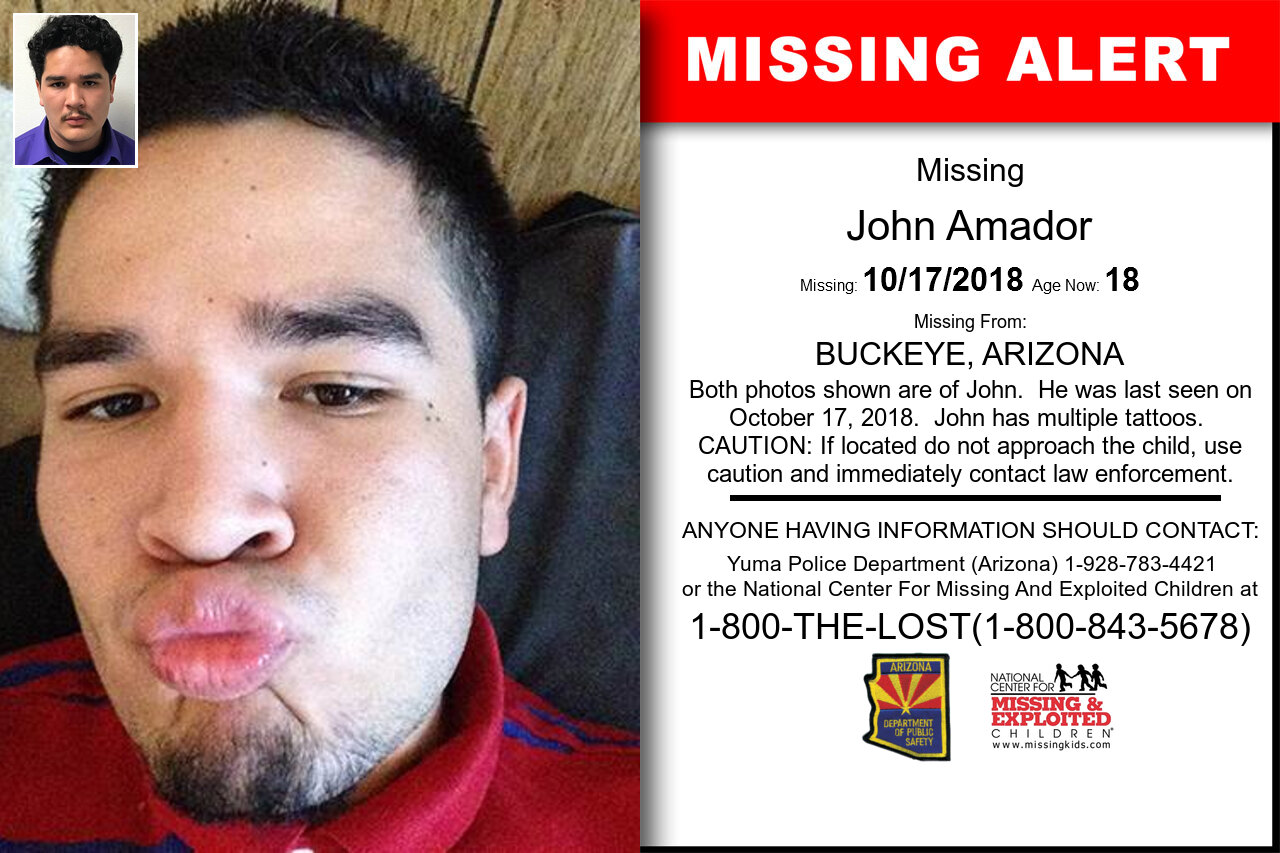 John_Amador missing in Arizona