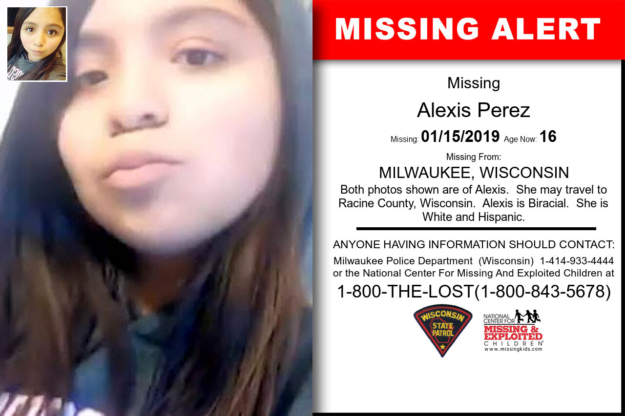 Alexis_Perez missing in Wisconsin