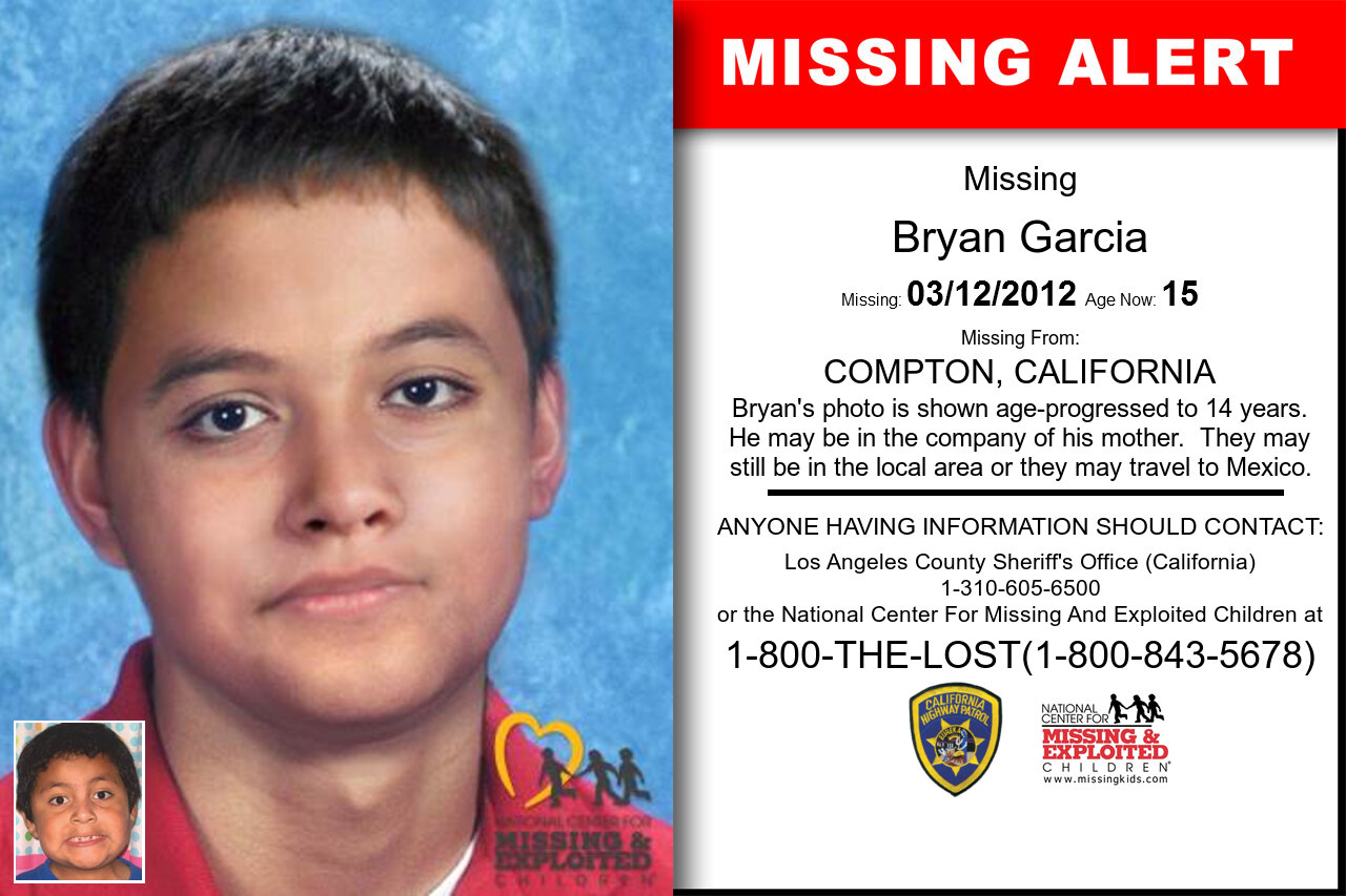 Bryan_Garcia missing in California