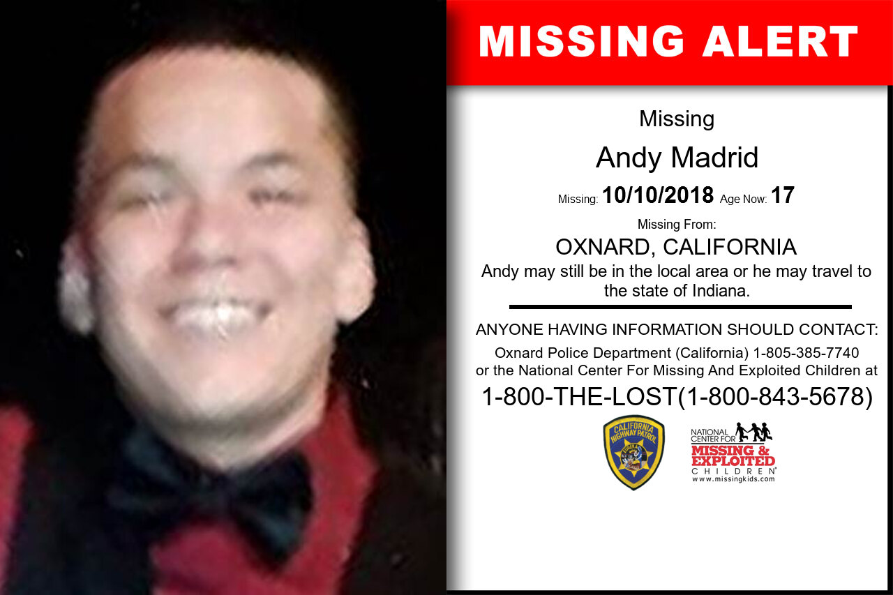 Andy_Madrid missing in California