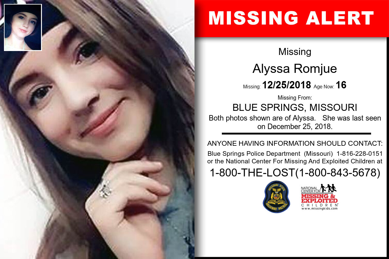 ALYSSA_ROMJUE missing in Missouri