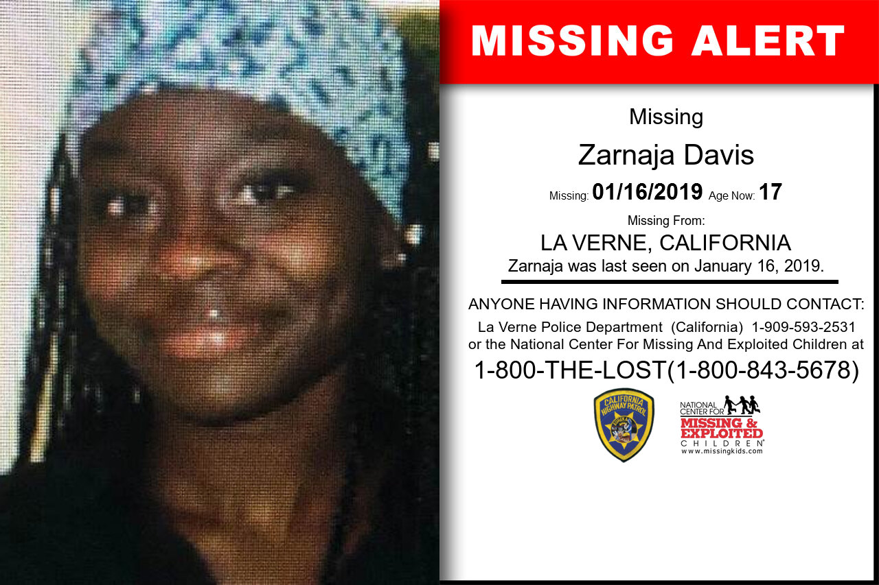 Zarnaja_Davis missing in California